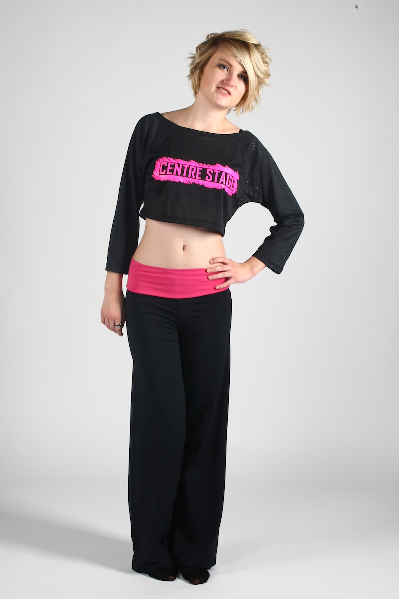 made to order dance wear with printed logo