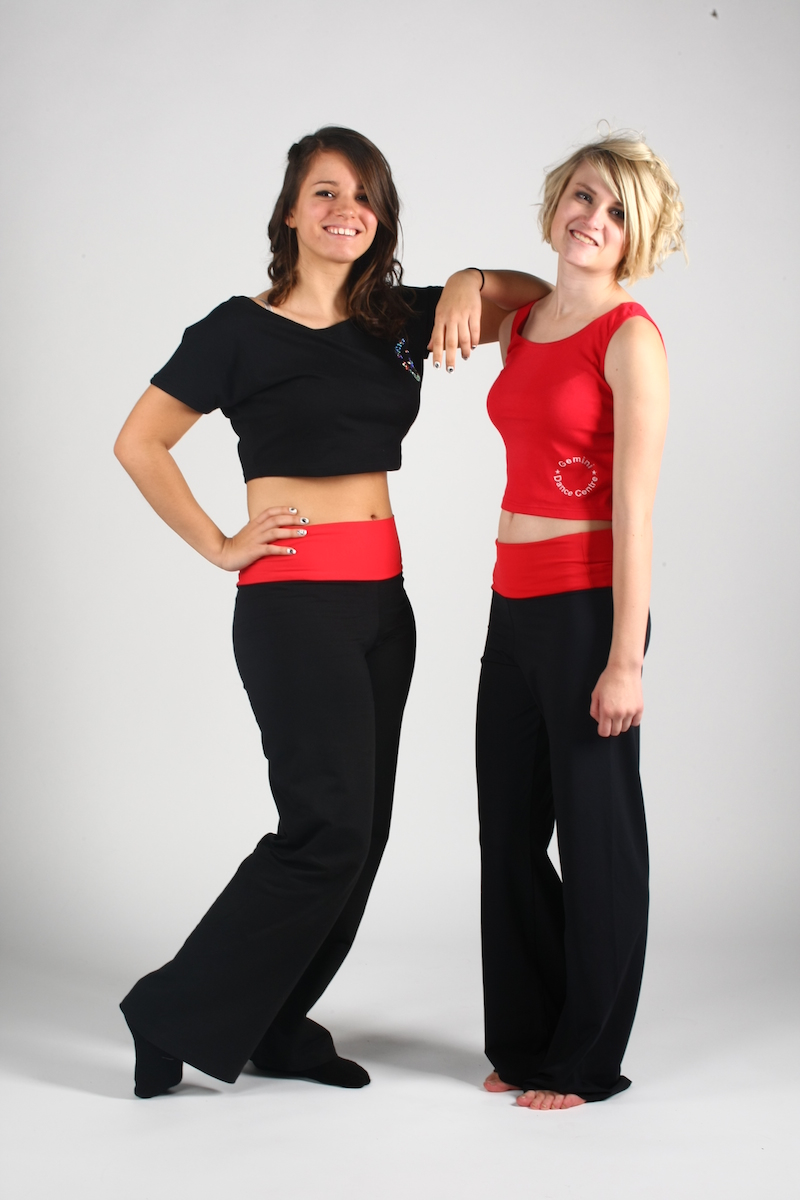 black & red made to order dance wear