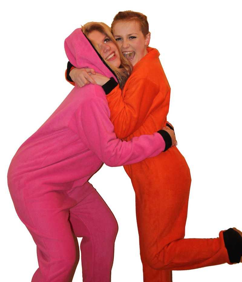pink & orange onesies