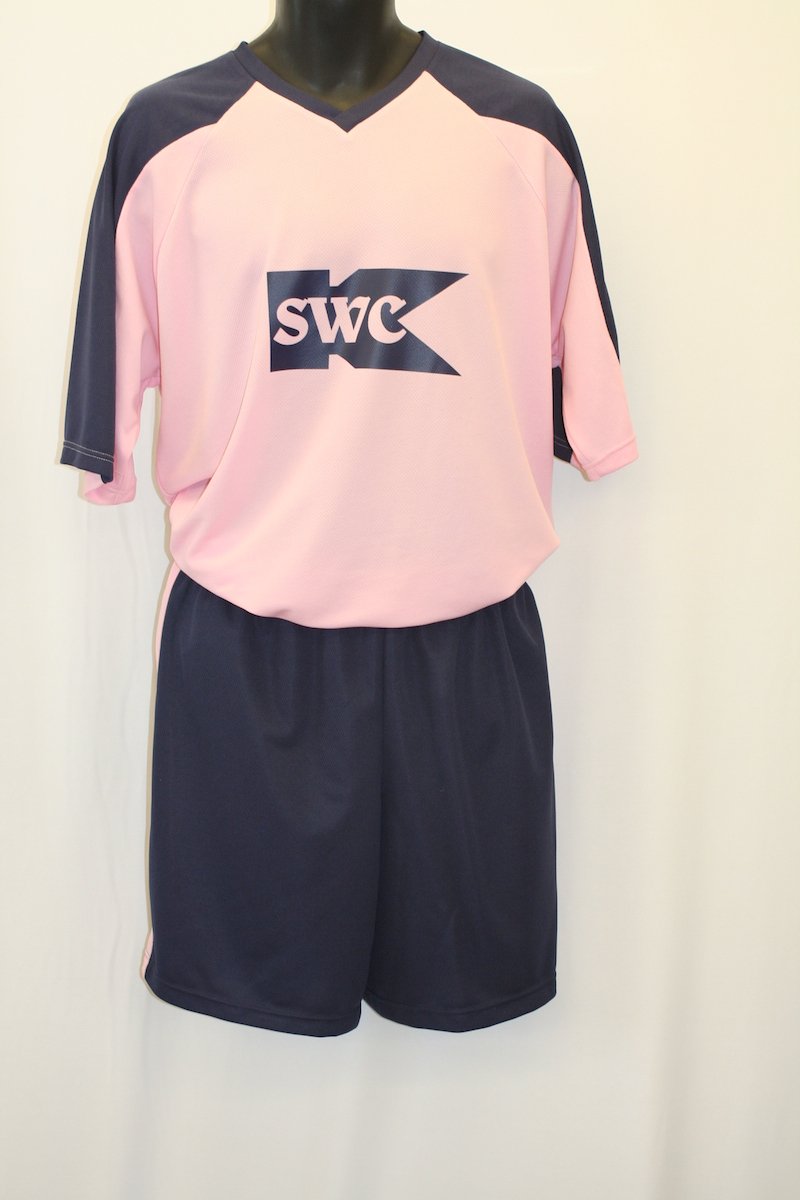 Football kit with logo