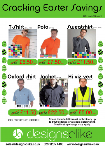 special offer polo shirts and workwear