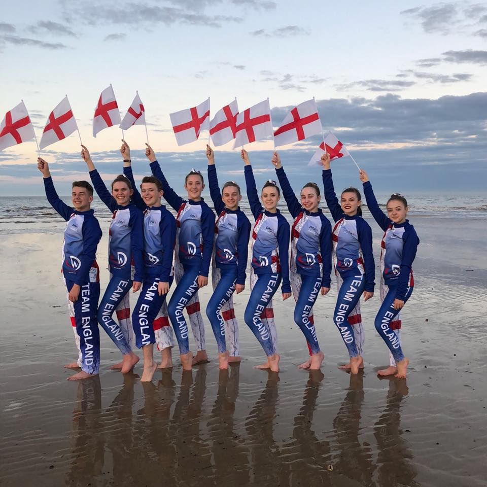 Team England tracksuits for dance world cup 2018